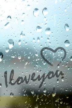 I love you with heart - raining on iphone screen. Love Wallpaper, Screen Wallpaper, Phone Backgrounds, Wallpaper Backgrounds, I Love You, My Love, Cellphone Wallpaper, Love Heart, Cute Wallpapers