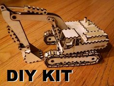 Laser cut wood excavator kit, build it yourself Cnc Laser, Laser Cut Wood, Laser Cutting, Laser Cutter Projects, Laser Cutter Ideas, Woodworking Supplies, Fine Woodworking, Star Laser, Aquaponics Kit