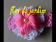 Flor estrela do mar -DIY - Starfish Flower Satin Ribbon - YouTube