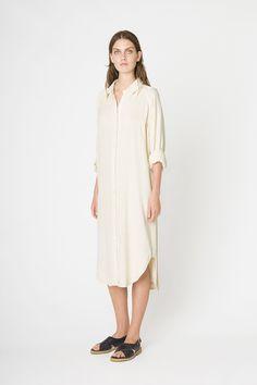 Ganni Safari dress, White Smoke