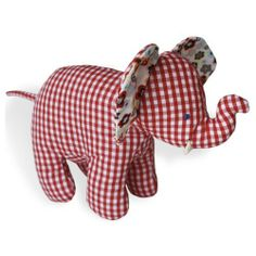"""Calico Elephant -- Soft Baby Toy by North American Bear. $10.97. Made of cute floral soft cotton. measures 9""""x6""""x2"""". great for small hands to grab. Contrasting cotton print with old-fashioned, whimsical charm."""