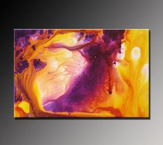 Abstract Painting Abstract Art Violet Purple by VivianaFleing