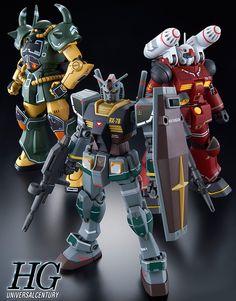 GUNDAM GUY: P-Bandai Exclusive: HG 1/144 Gundam, Guncannon & Gouf [21st Century Real Type Ver.] - Official Promo Images