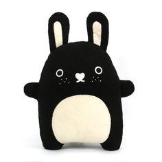 Riceberry rabbit cushion £25. A huggable sized black bunny!