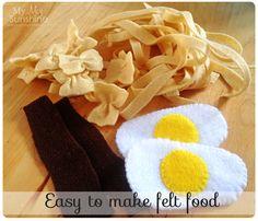 Easy to make felt food