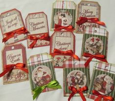 Scrappers' Cove Blog Spot: Mini Gift Tags with Fabscraps