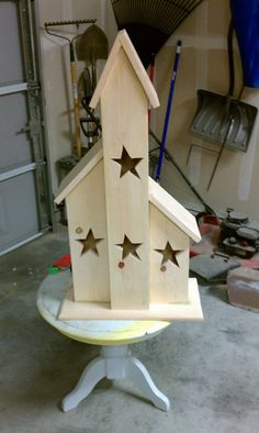 Lighted Saltbox House/look more like bird houses! Would be cute for Mom for her Bday or Mothers day!