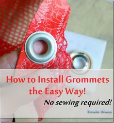 How to install  no sew grommets/eyelets #tutorial #crafts #DIY