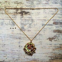 Vintage Tiger Cross Stich Necklace  14 Long by ShopKingDude, $40.00