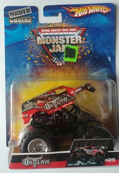2007 Hot Wheels Iron Outlaw Under Coverz #25 Monster Jam Truck 1:64 Retired #HotWheels #25IronOutlawUnderCoverz
