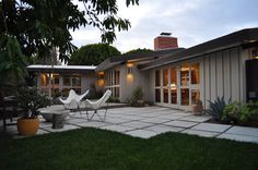 wide pavers //our Cliff May Rancho Rehab