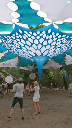 Festival Decor, shade system, psychedelic, taken at Vortex Let There be Light in 2010 shade by Carin Dickson / Artscape