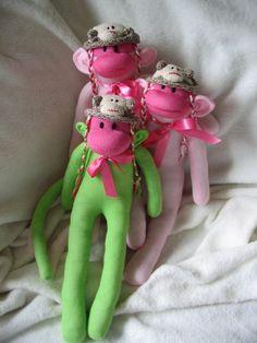 Sock Monkeys with Sock Monkey hats.