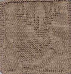 Knitted Moose Cloth (looks more like a deer) Knitted Washcloth Patterns, Knitted Washcloths, Dishcloth Knitting Patterns, Crochet Dishcloths, Knit Or Crochet, Loom Knitting, Knit Patterns, Free Knitting, Manta Animal