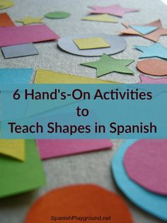 in Spanish: Hands-on Activities Spanish shapes for preschoolers and older kids too! Shapes+in+Spanish+ActivitiesSpanish shapes for preschoolers and older kids too! Shapes+in+Spanish+Activities Spanish Lessons For Kids, Preschool Spanish, Learning Spanish For Kids, Spanish Basics, Elementary Spanish, How To Teach Kids, Spanish Activities, Spanish Language Learning, Spanish Classroom