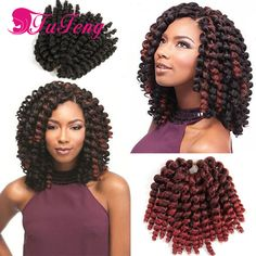 8 inch jumpy wand curl Crochet Braids hair Wand Curl Crochet hair extensions senegalese twist synthetic xpression braiding hair