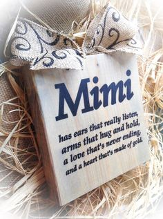 Mimi Sign  Wood Block  Choose your name  Nana by DesignsBySyds