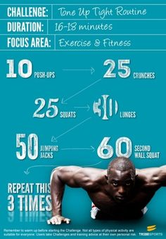 Quick workout routine for when you can't make it to the gym.