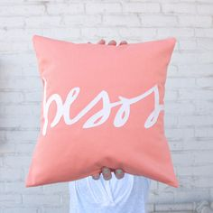 Ensuus Coral Love pillow Besos