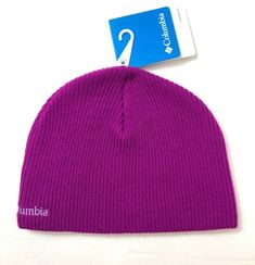 0080ab302d1 Details about YOUTH Girl COLUMBIA BEANIE magenta pink winter knit ski hat  Whirlibird Watch Cap