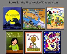 These are our choices for books to read the first week of kindergarten. Check out the Children's Books tab at http://www.nellieedge.com/children-books/booklist-abc.htm.