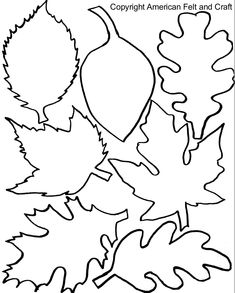 Fall Felt Leaves with Templates - - If you have never seen the New England in the fall you're missing a riot of color. Impossibly bright oranges and yellows fade into russets and mustards. Pops of burgundy, gold, and deep reds …. Leaves Template Free Printable, Maple Leaf Template, Leaf Printables, Felt Templates, Applique Templates, Applique Patterns, Card Templates, Calendar Templates, Fall Leaves Coloring Pages