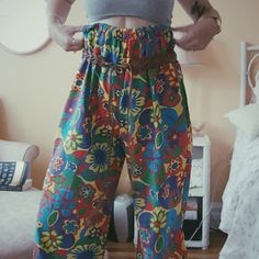70's Floral Bell Bottoms Awesome Floral Bell Bottoms! ✌️ Vintage Pants