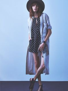 Free People Linen Maxi Jacket at Free People Clothing Boutique