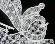 Free standing lace Snowman Christmas window ornament