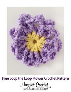 Loop-the-Loop Flower Free Crochet Pattern from Maggie's Crochet.