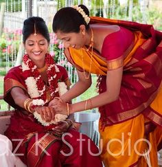 Bride and Sister in Beautiful Nine Yard Madisar Sarees Madisar Saree, Sarees, India And Pakistan, Colourful Outfits, Photo Editor, Free Images, Butterflies, Yard, Bride