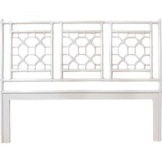 Lend a touch of island-inspired style to your master suite or guest room with this rattan headboard, showcasing a lattice design in white.  ...