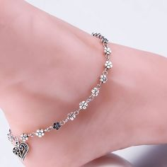 1.0AUD - Silver Plated Chain Anklet Ankle Bracelet Barefoot Sandal Beach Foot Jewelry Hot #ebay #Fashion