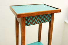 Vintage teak console table/plant stand by SeeingBetterDays on Etsy