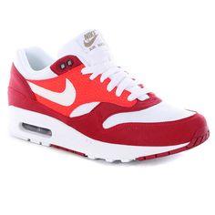 Nike Air Max 1 Shoes - Legacy Red/white/khaki