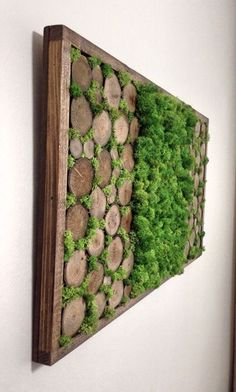 Preserved Moss Wall Art - Mothers Day - Nature Wall Art - Moss Art Painting - Rustic Home Decor - Preserved Living Wall - Vertical Garden by TheNorthSides on Etsy - Salvabrani Moss Wall Art, Moss Art, Diy Wall Art, Unique Wall Art, Wall Decor, Colorful Wall Art, Garden Wall Art, Diy Garden, Home And Garden