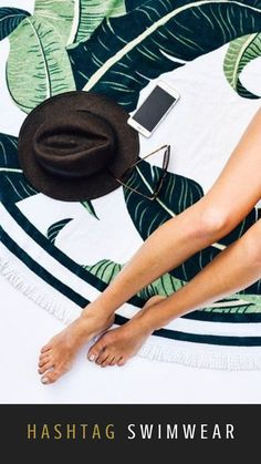 Summer Ootd, Beachwear, Swimwear, Beach Travel, Bikini Swimsuit, Green Leaves, Spy, Towels, Bathing Suits