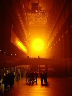 Weather Project - Olafur Eliasson. Light art installation