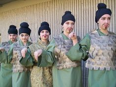 Interesting idea for hair and make up for Mulan soldiers