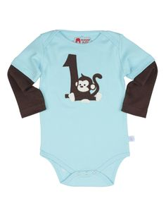 RuggedButts First Birthday Long Sleeve One-Piece - 12-18m