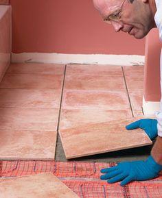 heated tile or wood floor