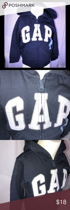 NEW BOYS GAP LOGO NAVY BLUE ZIP UP HOODIE 🌓 Great boys hoodie for all seasons!  Be sure to follow my closet as new items are added daily. Something for the whole family!! GAP Shirts & Tops Sweatshirts & Hoodies