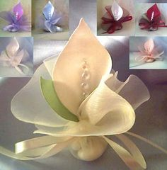 calla lily wedding favors crystal ivory table decoration ca Handmade Wedding Favours, Homemade Wedding Favors, Beach Wedding Favors, Unique Wedding Favors, Unique Weddings, Wedding Gifts, Wedding Ideas, Wedding Table, Wedding Fabric