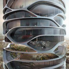 Wellenturm: Hochhauskonzept »Gran Mediterraneo« von David Tajchman - DETAIL.de - das Architektur- und Bau-Portal