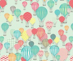 Hot Air Balloon Fabric - Hot Air Balloons By Allisonkreftdesigns - Balloon Modern Nursery Decor Cotton Fabric By The Yard With Spoonflower Modern Nursery Decor, Crib Blanket, Swaddle Blanket, Fabric Remnants, Hot Air Balloon, Custom Fabric, Baby Gifts, Craft Projects, Scrapbooking