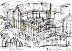 Drawing Architecture Warsaw - design idea Szkic - Architektura Warszawa Koncepcja Pomysł na dobry dom Osada Śnieżka Karpacz http://www.mkarchitekci.com.pl/
