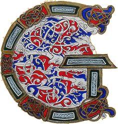 Initiale G celtique