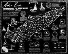 Map of Shipwrecks of Lake Erie