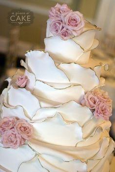 wedding cake - pink roses