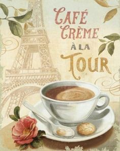 French coffee poster.